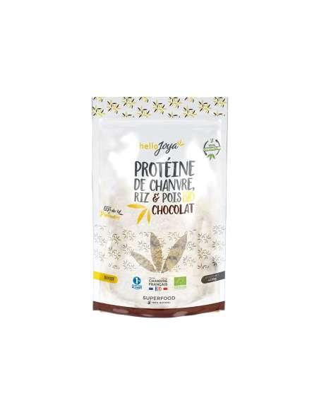 Protéine de chanvre bio riz et pois au chocolat 400g | CBD & Chanvre