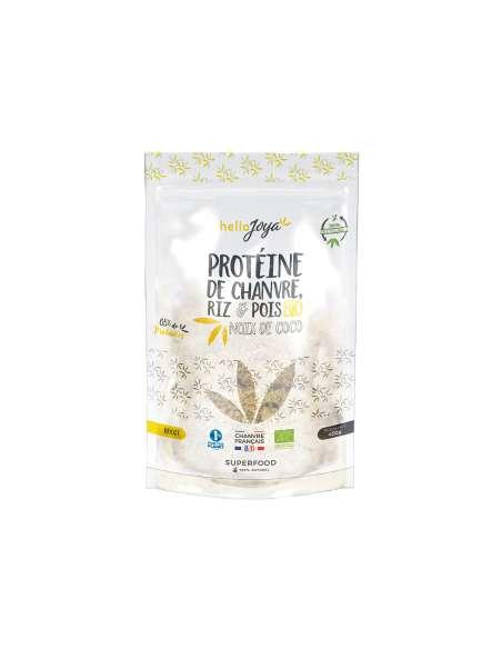 Protéine de chanvre bio riz et pois à la noix de coco 400g | CBD & Chanvre