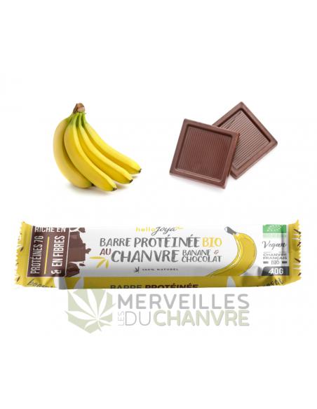 Barre protéines bio au chanvre banane-chocolat   CBD & Chanvre