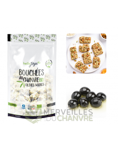 Bouchées au chanvre bio aux olives noires   CBD & Chanvre
