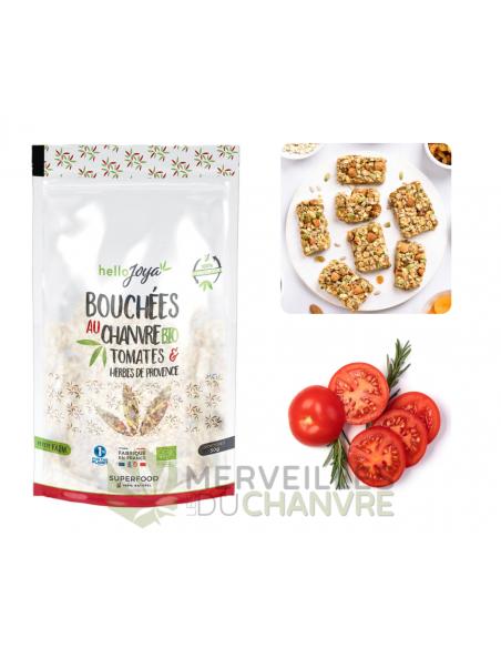 Bouchées au chanvre bio à la tomate et aux herbes de Provence   CBD & Chanvre
